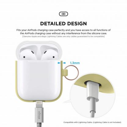 Elago Duo Hang Silicone Case - силиконов калъф за Apple Airpods (жълт) 6