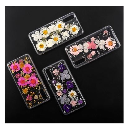 4smarts Soft Cover Glamour Bouquet - силиконов (TPU) калъф с цветя за Huawei P20 (розов)