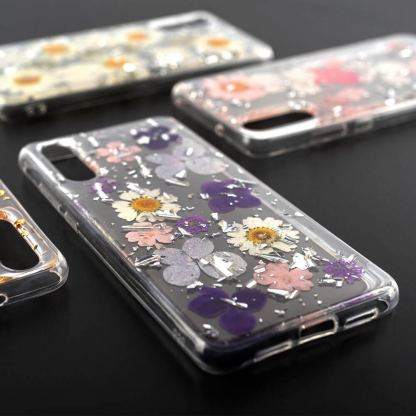 4smarts Soft Cover Glamour Bouquet - силиконов (TPU) калъф с цветя за Huawei P20 (розов) 2
