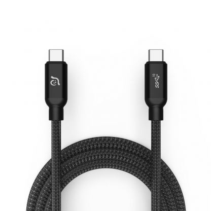 ADAM Elements CASA C200 USB-C Cable 100W - USB-C към USB-C кабел за MacBook и устройства с USB-C порт (200 cm) (черен)