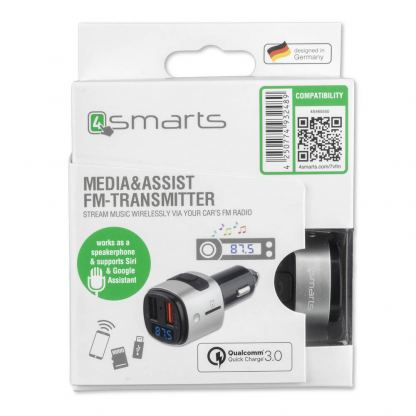 4smarts Media Assist Car Charger with FM Transmitter and Media-In - зарядно за кола (Quick Charge) с трансмитер, MicroSD карта и дисплей (черен) 9