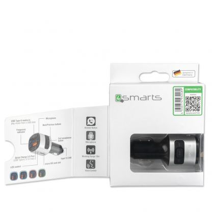 4smarts Media Assist Car Charger with FM Transmitter and Media-In - зарядно за кола (Quick Charge) с трансмитер, MicroSD карта и дисплей (черен) 10