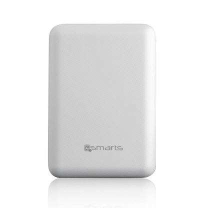 4smarts Power Bank VoltHub Go 10000 mAh - външна батерия с 2 USB изхода (бял)