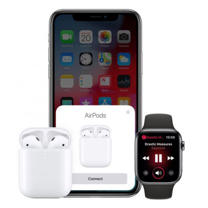 Apple AirPods 2 with Charging Case - оригинални безжични слушалки за iPhone, iPod и iPad 3