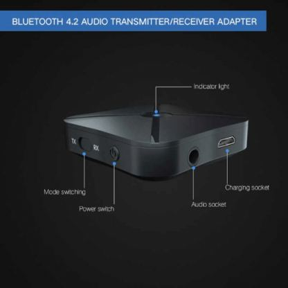 Rovtop 2 in 1 Stereo Bluetooth 4.2 Receiver & Transmitter - аудио трансмитер и рисийвър за безжично прехвърляне на аудио 4