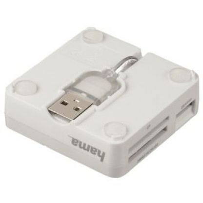 "Четец- ""All in One"" Multi-Card Reader - USB 2.0-бял 3"