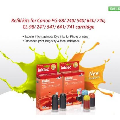Цветен рефил за Canon CL-241/541/641/741/98/241XL/541XL/641XL/741XL, 3 x 20ml-MG2120/2150/2160/2170/3120/3150/3160/3170/4120/4160/4170/E500