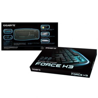 Геймърска клавиатура Gigabyte Force K3 ,USB, black, без кирилица 3