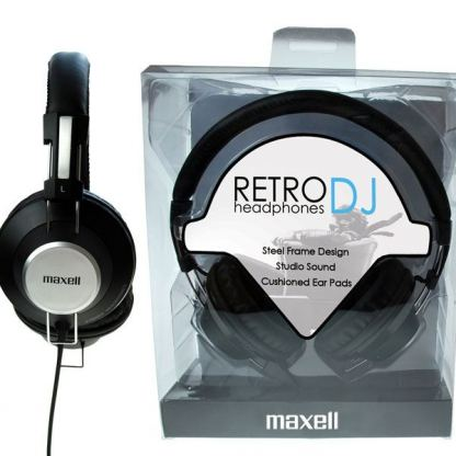 Слушалки  MAXELL RETRO DJ  BLACK с големи наушници