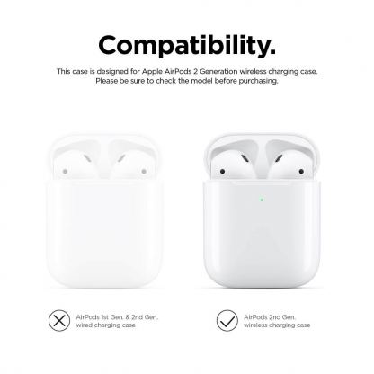 Elago Airpods Duo Silicone Case - силиконов калъф за Apple Airpods 2 with Wireless Charging Case (тъмносин-оранжев) 8