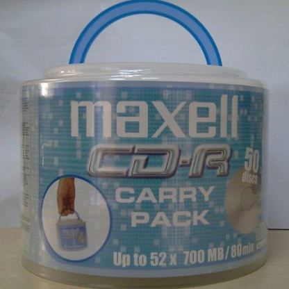 CD-R80 50 pk shrink wrapped MAXELL 52 speed