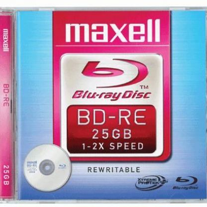 Blueray /презаписваем/ BD-RЕ 2  25 Gb Single layer slim case  MAXELL