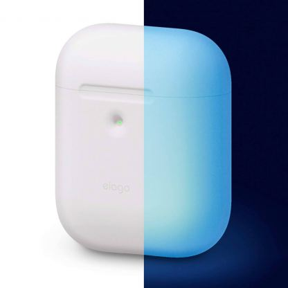 Elago Airpods Silicone Case - силиконов калъф за Apple Airpods 2 with Wireless Charging Case (бял-фосфор)