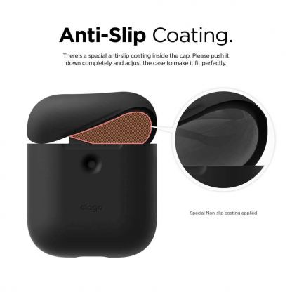 Elago Airpods Silicone Case - силиконов калъф за Apple Airpods 2 with Wireless Charging Case (черен) 5
