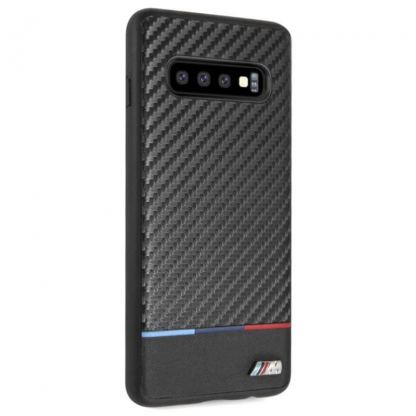 BMW M Collection Carbon Inspiration Hard Case - кожен кейс за Samsung Galaxy S10 (черен)