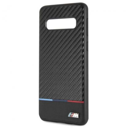 BMW M Collection Carbon Inspiration Hard Case - кожен кейс за Samsung Galaxy S10 (черен) 2