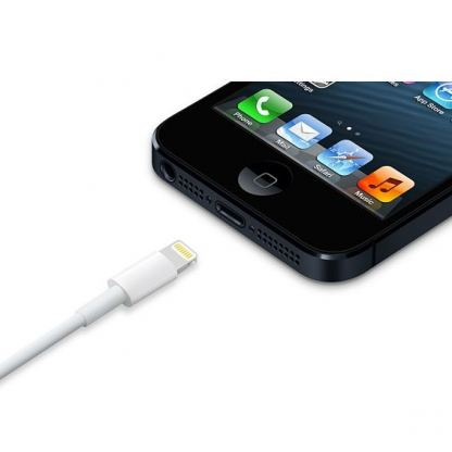 Apple Lightning to USB Cable - оригинален USB кабел за iPhone 5, iPod Touch 5, iPod Nano 7, iPad 4 и iPad Mini (2 метра) 3