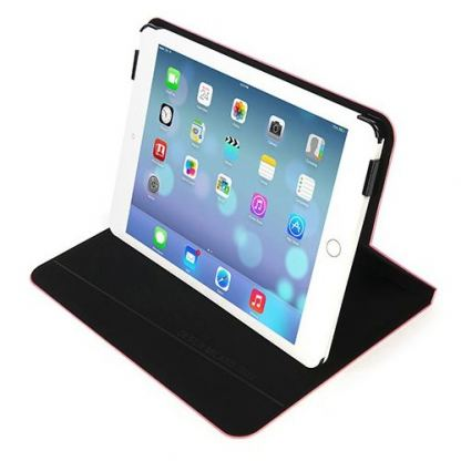 Tucano Filo Hard Folio Case - текстилен калъф с Auto On/Off и поставка за iPad Air (розов) 3
