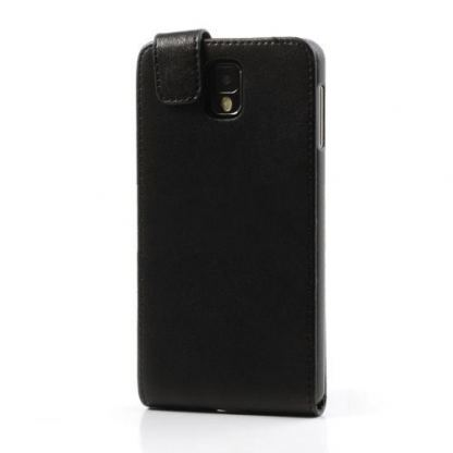 Leather Flip Case - кожен калъф за Samsung Galaxy Note 3 N9000 (черен) 3