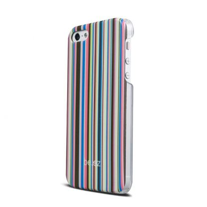 Be.ez LA cover Allure - поликарбонатов кейс за iPhone 5, iPhone 5S (розов-жълт)