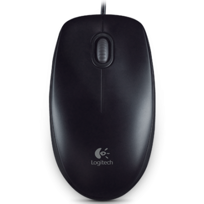 Logitech optical mouse Оптична мишка B100  USB, 3 but, Черна