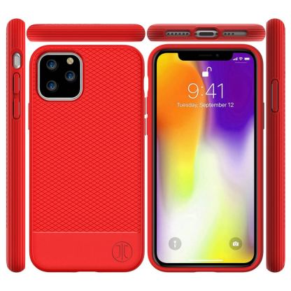JT Berlin BackCase Pankow Soft - силиконов TPU калъф за iPhone 11 Pro (червен) 5