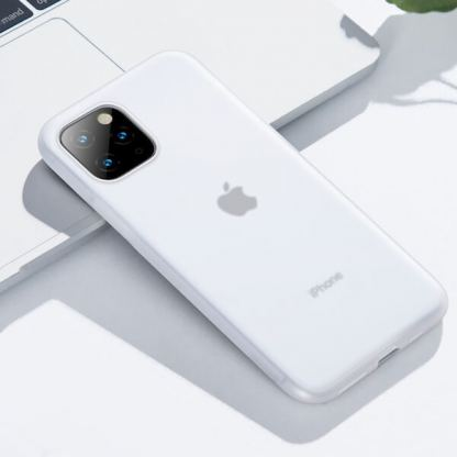 Baseus Jelly Liquid Silica Gel Case - силиконов (TPU) калъф за iPhone 11 Pro (бял) 3
