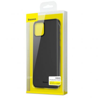 Baseus Wing case - тънък полипропиленов кейс (0.45 mm) за iPhone 11 (сив) 2