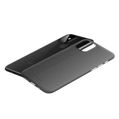 Baseus Wing case - тънък полипропиленов кейс (0.45 mm) за iPhone 11 (сив) 3