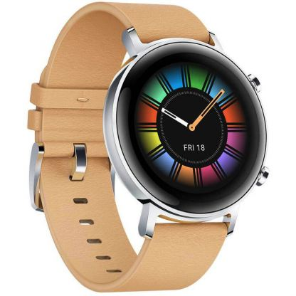 Huawei Watch GT 2 Diana B19V Classic Edition 42 mm - умен часовник с GPS за Android и iOS (бежов-кожена каишка)