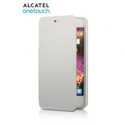 Alcatel Flipcover FC6010 - кожен кейс за Alcatel One Touch Star 6010 (бял)