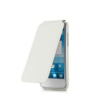 Alcatel Flipcover FC5020 - кожен кейс за Alcatel One Touch 5020 (бял) 3