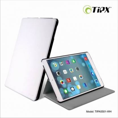 Tipxcase Airslim Collection - кожен кейс и поставка за iPad Air (бял)