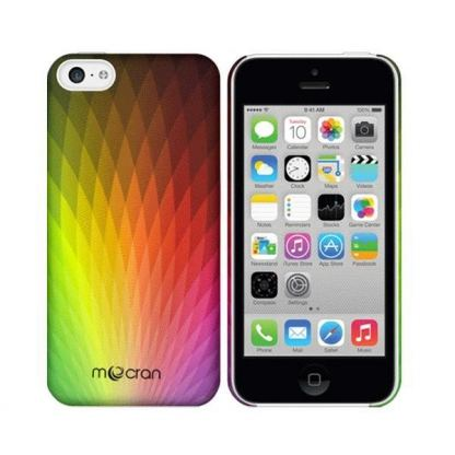 Mocran Abstract Rainbow Field Case - поликарбонатов кейс за iPhone 5C