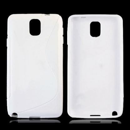 S-Line Cover Case - силиконов калъф за Samsung Galaxy Note 3 N9000 (бял) 3