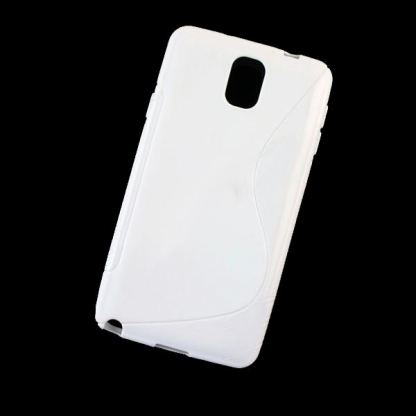 S-Line Cover Case - силиконов калъф за Samsung Galaxy Note 3 N9000 (бял)