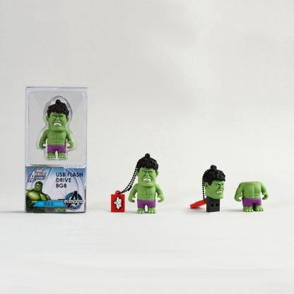 USB Tribe Marvel The Hulk High Speed USB 2.0 Flash Drive 8GB - флаш памет 8GB 2