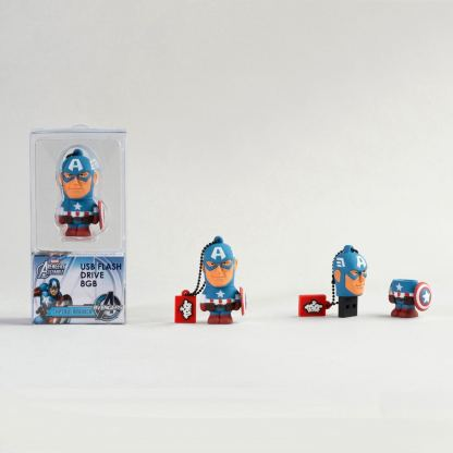 USB Tribe Marvel Captain America High Speed USB 2.0 Flash Drive 8GB - флаш памет 8GB 2