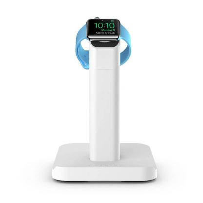 Griffin WatchStand Charging Dock - поставка за Apple Watch и iPhone (сребрист)