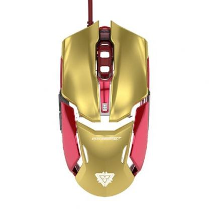 E-3LUE Wired Mouse Iron Man 3 Edition - дизайнерска оптична мишка с USB кабел (за Mac и PC)