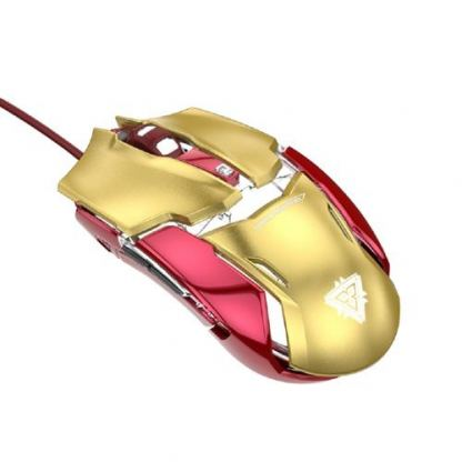 E-3LUE Wired Mouse Iron Man 3 Edition - дизайнерска оптична мишка с USB кабел (за Mac и PC) 2