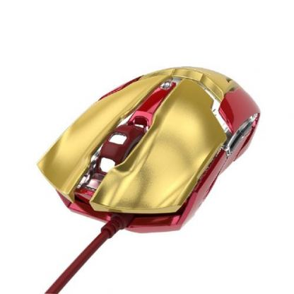 E-3LUE Wired Mouse Iron Man 3 Edition - дизайнерска оптична мишка с USB кабел (за Mac и PC) 3