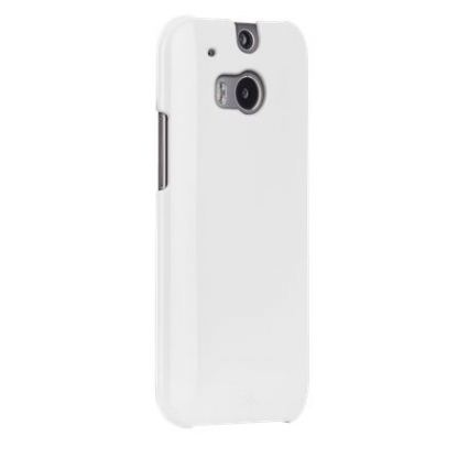CaseMate Barely There - тънък поликарбонатов кейс за HTC One 2 (M8) (бял)