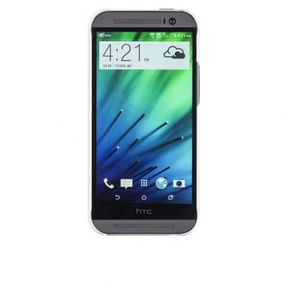 CaseMate Barely There - тънък поликарбонатов кейс за HTC One 2 (M8) (бял) 2