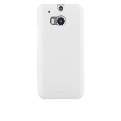 CaseMate Barely There - тънък поликарбонатов кейс за HTC One 2 (M8) (бял) 3
