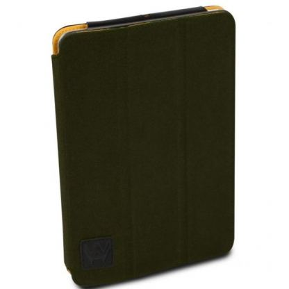 Walk On Water Harbour Canvas Case - кожен кейс и поставка за iPad mini, iPad Mini Retina (тъмнозелен)