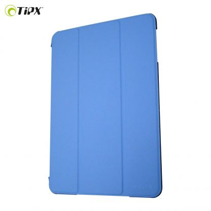 Tipxcase Airslim Collection - кожен кейс и поставка за iPad mini, mini Retina (син)