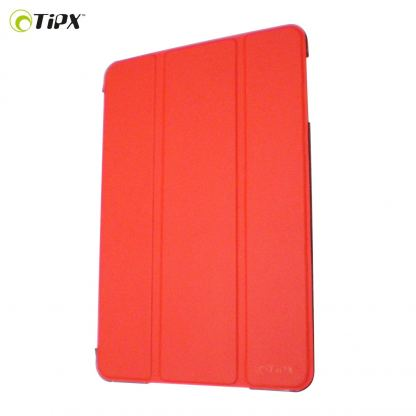 Tipxcase Airslim Collection - кожен кейс и поставка за iPad mini, mini Retina (червен)