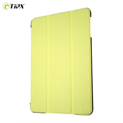 Tipxcase Airslim Collection - кожен кейс и поставка за iPad mini, mini Retina (жълт)