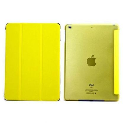 Tipxcase Airslim Collection - кожен кейс и поставка за iPad mini, mini Retina (жълт) 2